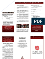 The Salvation Army Missing Persons - Brochure