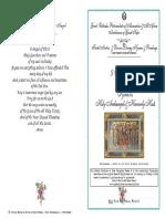 2016 - 8 Nov-holy Archangels-festal Matins & Div Lit Hymns