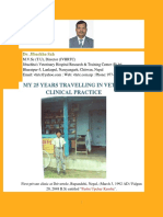 My 25 Years Travelling in Veterinary Clinical Practice