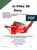 Hakki Pilke Easy 38 Operators Manual Schematics
