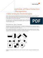 Popular Methods of Face Detection and Face Recognition Video Analysis Technologies