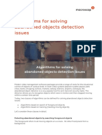 Algorithms for Solving Abandoned Objects Detection Issues