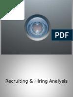 Recruitment and Hiring Metrics Presentation