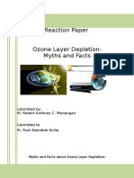 reaction paper ozone depeletion