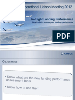 Airbus ILD inflight landining distances