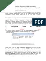 Koneksi Database SQL Server Untuk Client Server