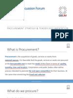 Discussion 02 Procurement & Tendering 20 09