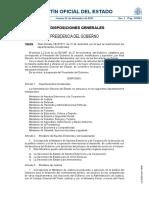 RD 1823 2011 Reestructuracion Departamentos Ministeriales