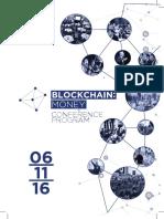 Blockchain Money London 2016 Program