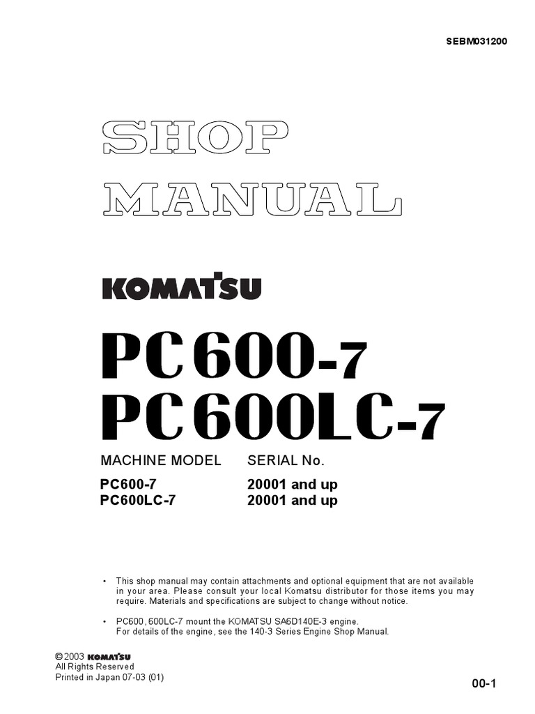komatsu pc400 pc450 400lc 7 450lc 7 service manual download