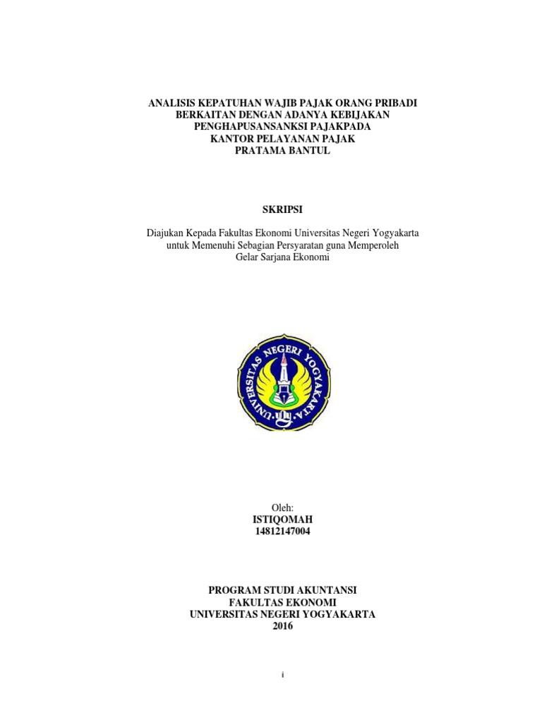 Contoh Skripsi Tentang Kepatuhan Wajib Pajak - Kumpulan ...
