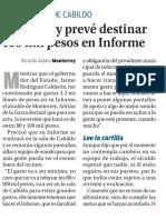 27-10-16 Monterrey prevé destinar 100 mil pesos en Informe