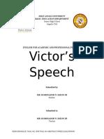 Victor's Speech