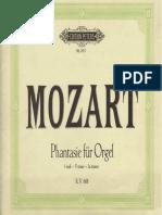 MOZART Fantasia K.608 Arr.organ