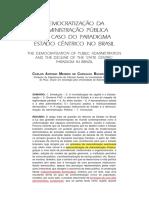 DEMOCRATIZAÇÃO DA ADMINISTRAÇÃO PÚBLICA E O OCASO DO PARADIGMA ESTADOCÊNRTRICO NO BRASIL.pdf