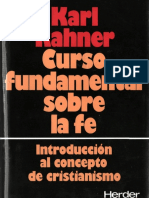Curso fundamental sobre la Fe. Rahner, Karl