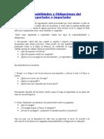 Responsabilidades y Obligaciones Del Exportador e Importador