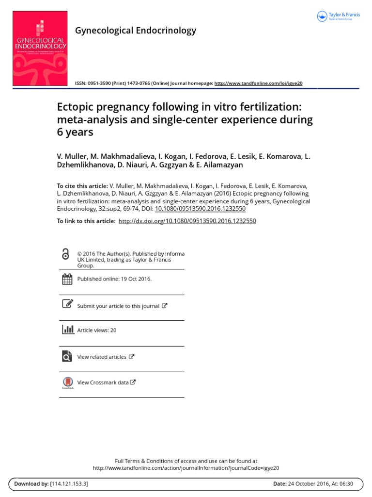 Does the test for frozen or ectopic pregnancy show a positive result?