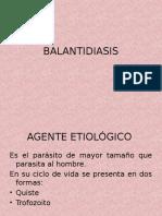 BALANTIDIASIS PROTOZOOS INTESTINALES