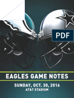 Eagles Game Notes vs. Dallas 10-30-16