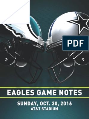 Eagles Game Notes vs Dallas 10 30 16