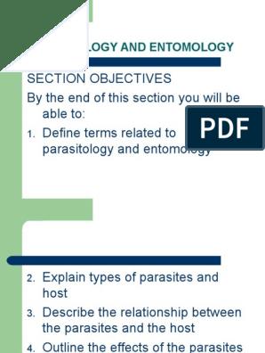 PARASITOLOGY AND ENTOMOLOGY ppt | Parasitism | Infection