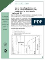 Cambio en el diseño preliminar del sistema de extracción de vapor