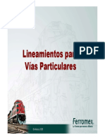 Lineamientos de Vías particulares 2009