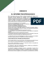 Curso Elaboracion Del Informe Psicologico III y IV Unidad