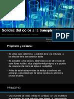 Solidez Del Color a La Transpiración