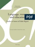Lenguaje Razon y Educación