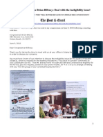 Letter to Congressman Brian Bilbray RE Eligibility JUN 9 2010