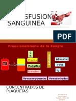 TRANSFUSION DE SANGRE