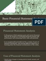 Basic Financial Statement Analysis