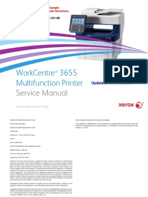 Xeroxwc3655 Service Manual | Electromagnetic Interference