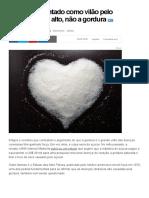 Açúcar é Apontado Como Vilão Pelo Seu Colesterol Alto, Não a Gordura - Notícias - Saúde