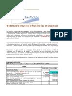 Plantilla de Auditoria Modelo Para Proyectar Flujo Caja