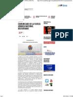 Comunicado de La Fuerza Armada Nacional Bolivariana _ Mppd