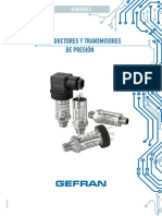 Transductores de Presión Sistema de Presión Constante