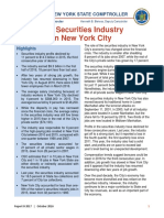 The securities industry in NYC