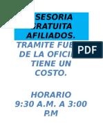 ASESORIA GRATUITA AFILIADOS