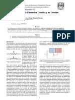 Elementos lineales y no lineales Practica UNAM