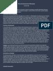 personal assessment philosophy brochure