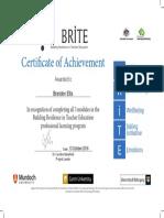 certificate for brite modules
