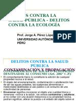 DRECHO PENAL . Delitos Contra La Salud Pública