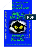 00038 Party Games - Glow in the Dark Theme Party Games and Party Kit