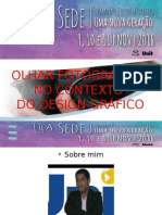 OLHAR FOTOGRÁFICO  NO CONTEXTO  DO DESIGN GRÁFICO
