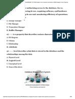 100-DBMS Multiple Choice Questions