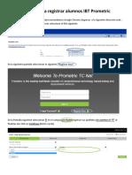 Manual Para Registrar Alumnos IBT Prometric
