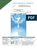 St. Timothy Parish Bulletin – June 13th, 2010